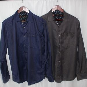 2 Bugatchi Universe Trimmed Button Shirts